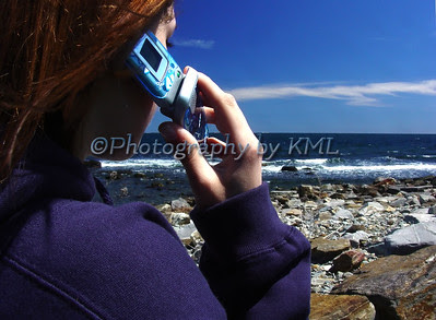 a teen and her cell phone