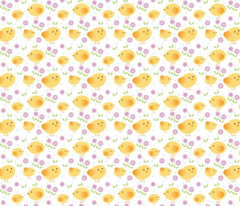 [Kid's PJs] chicks fabric by cindy_lindgren on Spoonflower - custom fabric
