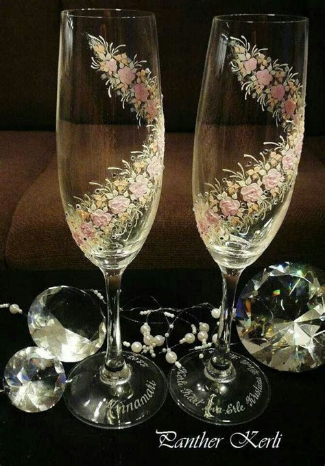Wedding glasses decoration idea    a friends wedding
