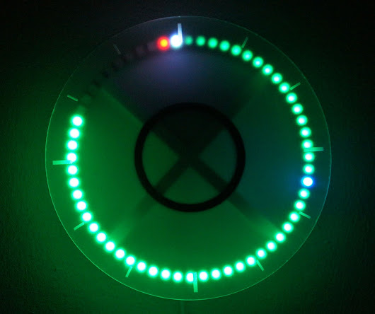 "Beautiful ""Frosty"" LED Wall Clock - Tindie Blog"