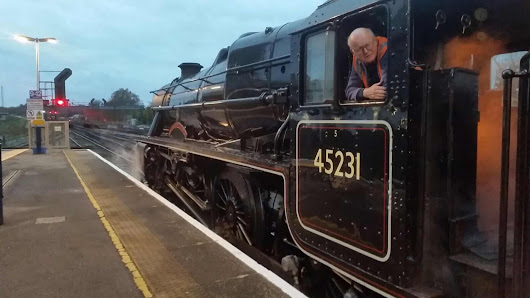 Icons of Steam's Black 5 visits the Mid Hants Railway