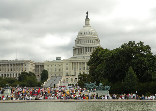 We looked at the crowded Capitol grounds