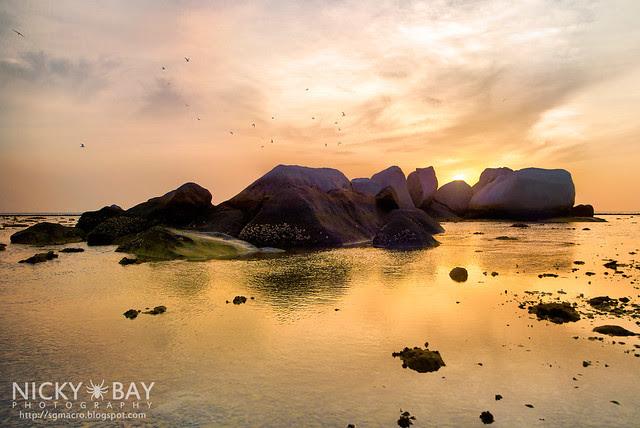 Sunrise behind Rock Formations - DSC_6847