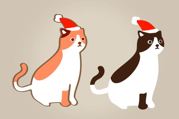 猫だってクリスマス クリスマスハロウィンお正月イラストevents Design