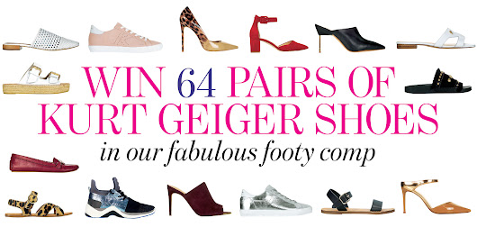 Win 64 pairs of Kurt Geiger shoes in our fabulous footy comp