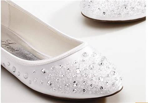 2015 New Diamond Bride Shoes Sweet Bead White Wedding