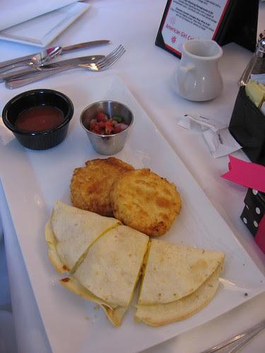 Breakfast quesadilla at AG Cafe