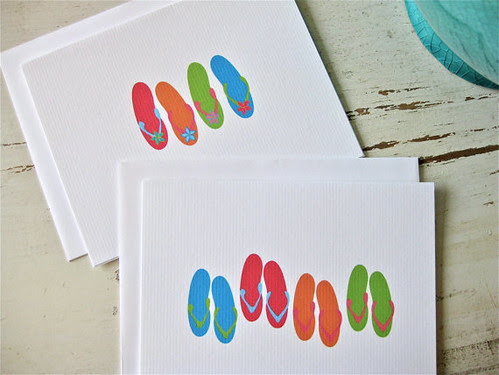 Slippers Note Cards