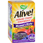 Nature's Way Alive! Max3 Daily Women's Multivitamin, Food-Based Blends (1,130mg per serving) and...