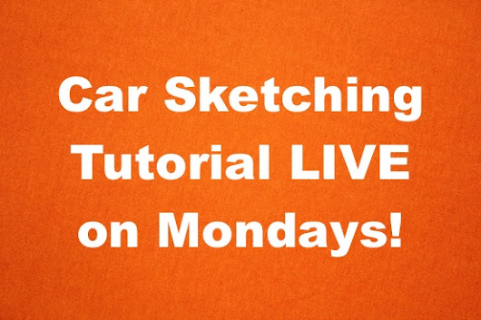Car Sketching Tutorials LIVE Youtube Luciano Bove –