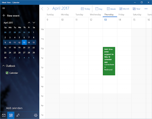 FYI, Microsoft: Time-zone support isn't a luxury feature in a calendar app