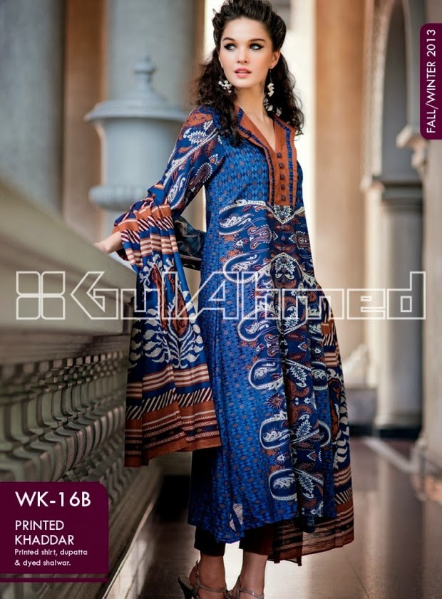 Beautiful-Cute-Girls-New-Fashionable-Dress-Design-by-Gul-Ahmed-Fall-Winter-Collection-2013-14-12