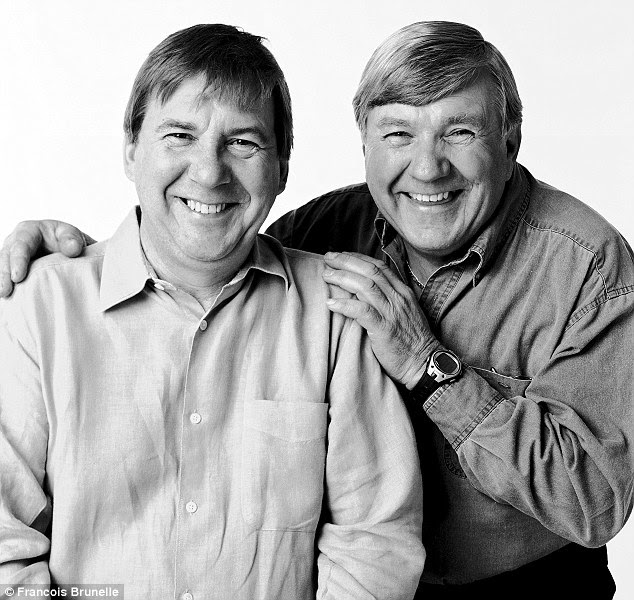 Smiles all round: Remy Girard (left) and Gabriel Guibert, pictured in 2003