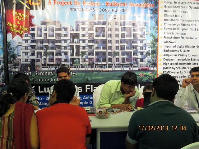 "Exhibition Offer Rs. 4.500 per sq.ft. at Navi Sangavi - The Times of India Pune Property Exhibition  ""Invest in West Pune""  16th & 17th February 2013"