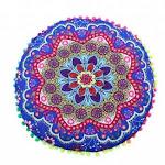 - Highpot New Fashion Indian Mandala Floor Pillows Round Bohemian Cushion Pillows Cover Case Cushions