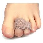 Zentoes Broken Toe Wraps 4 Pack Cushioned Bandages Hammer Toe Separator Splints, Size: One Size, Beige