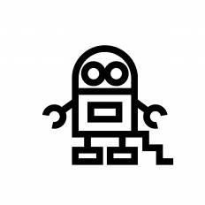 ロボットシルエット イラストの無料ダウンロードサイトシルエットac