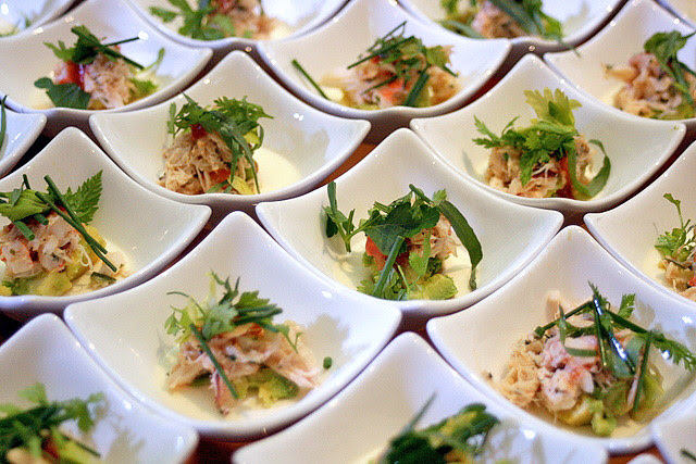 Wolfgang Puck's Shrimp and Crab Louie with Horseradish Pannacotta