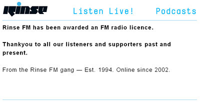rinse fm get a  licence