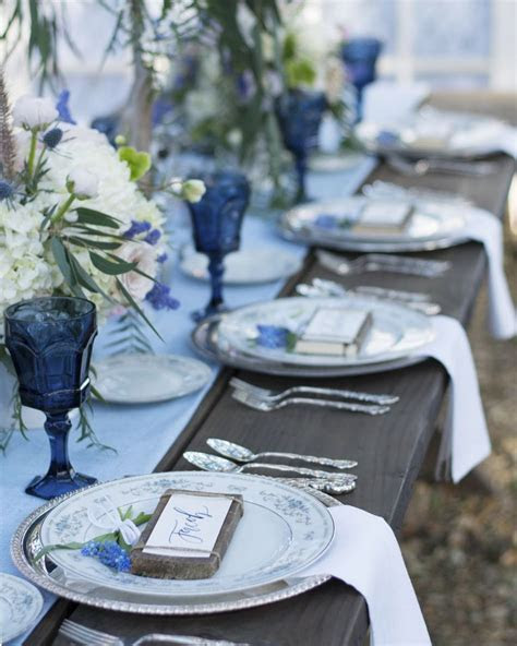 Country Blue Wedding Inspiration   Rustic Wedding Chic