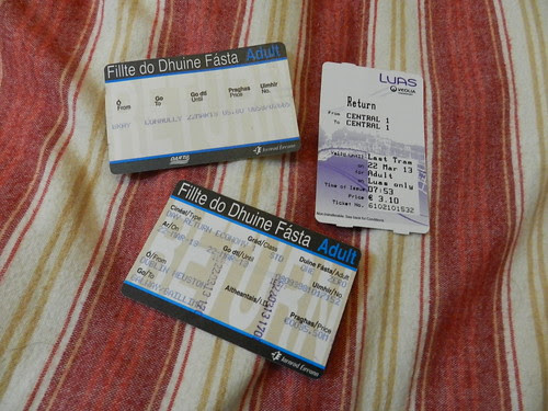 Galway day-trip tickets from the day before (DART, Luas, train)