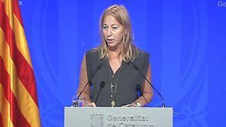 La portaveu del govern, Neus Munté, en roda de premsa