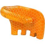 Handcrafted Large Giraffe Soapstone Sculpture in Orange - Smolart