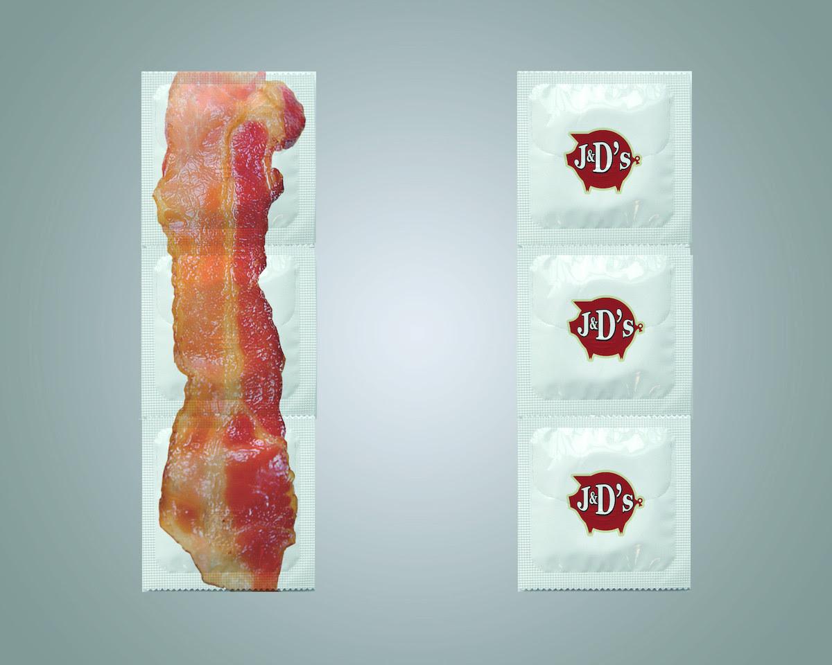 preservativos sabor a tocino J & D