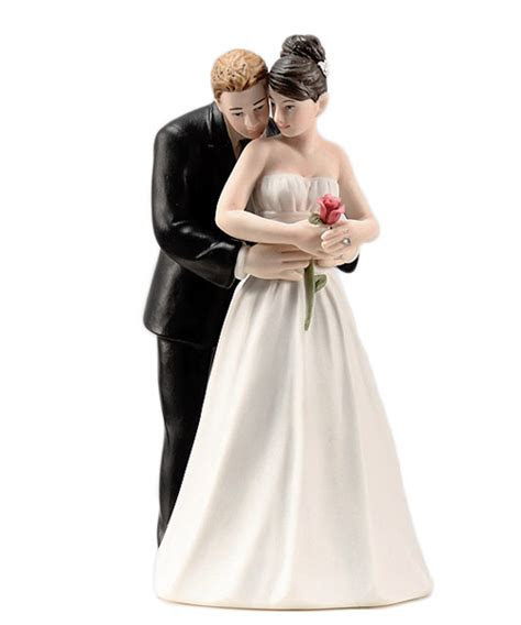 """""""Yes to the Rose"""" Couple Romantic Wedding Cake Topper"""