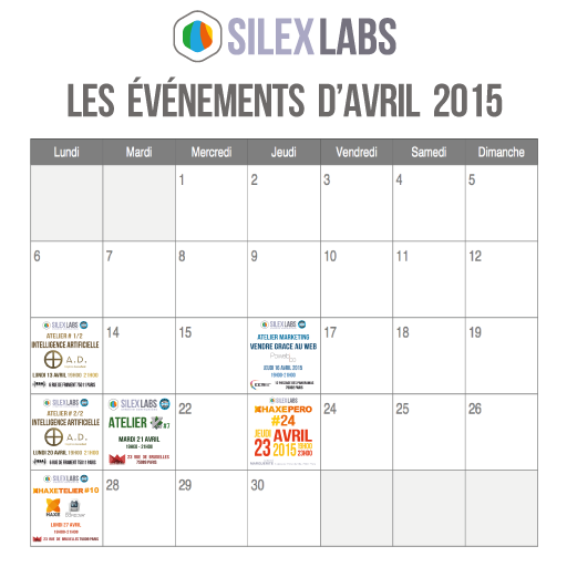 "Silex Labs on Twitter: ""Les events d'avril #0ad #IntelligenceArtificielle #vim #Haxe #Market @EEMI75 @iesamultimedia  """