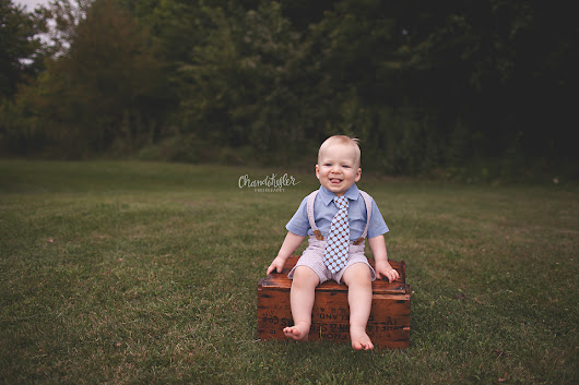 Jack's 1 Year Session On Location | Springfield Baby Bloomington Normal Family Photographer
