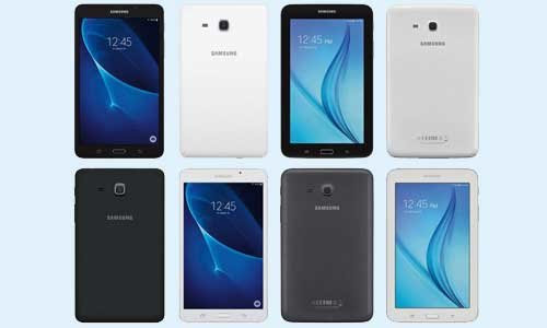 Samsung Galaxy Tab A 2016 listed on company's official website