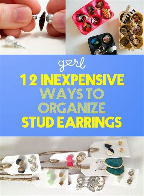 12 Inexpensive Ways To Organize Your Stud Earrings   Studs