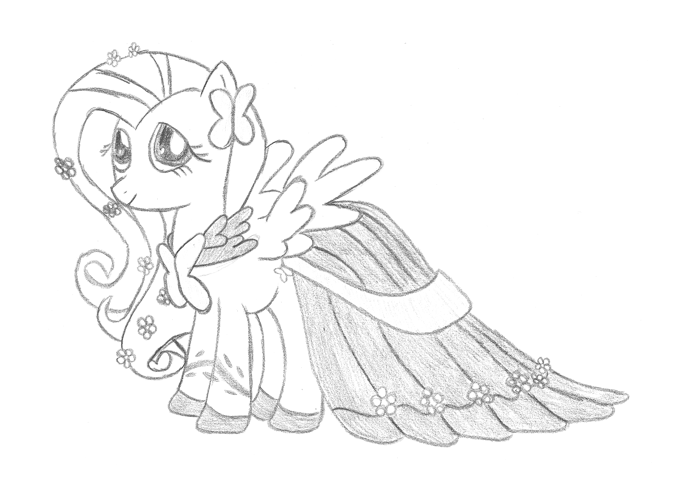 My Little Pony Friendship Is Magic Fluttershy Coloring Pages
