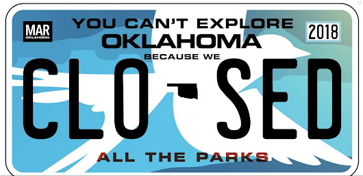 Here's a more appropriate Oklahoma license plate…