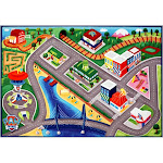 Paw Patrol Marshall Adventure Bay Game Rug, multicolor