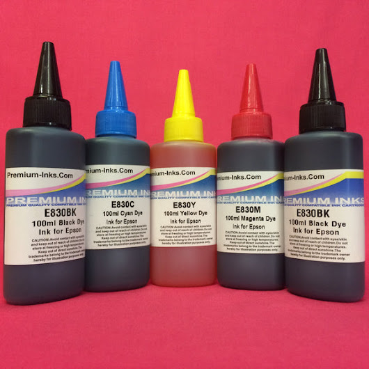 5X100ML DYE REFILL INK FOR EPSON EXPRESSION PREMIUM PRINTERS
