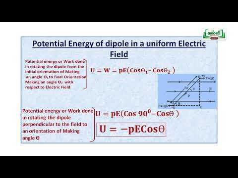 NEET  JEE  Physics Electrostatic Potential Energy And Capacitance Kalvi TV