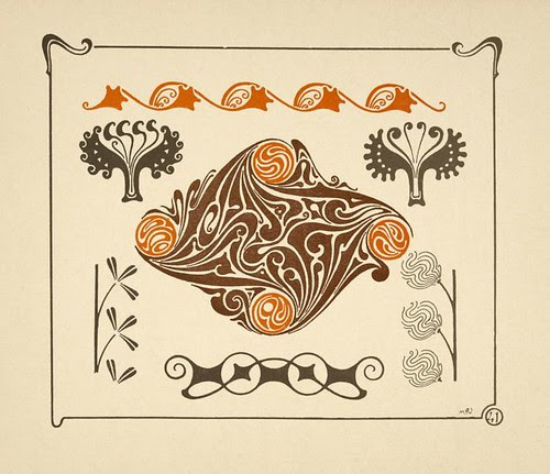 Abstract design based on leaves and organic shapes