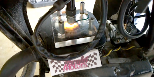 Peek Inside a Running Motorcycle with This Transparent Engine Cover