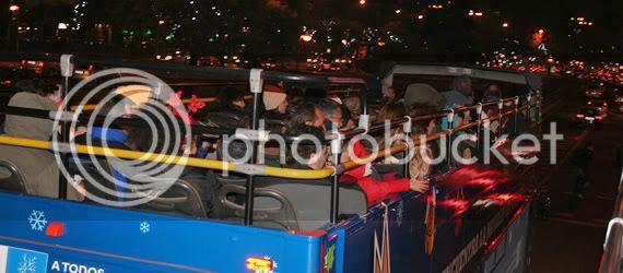 El autobús de la Navidad 2010/11, para ver las luces