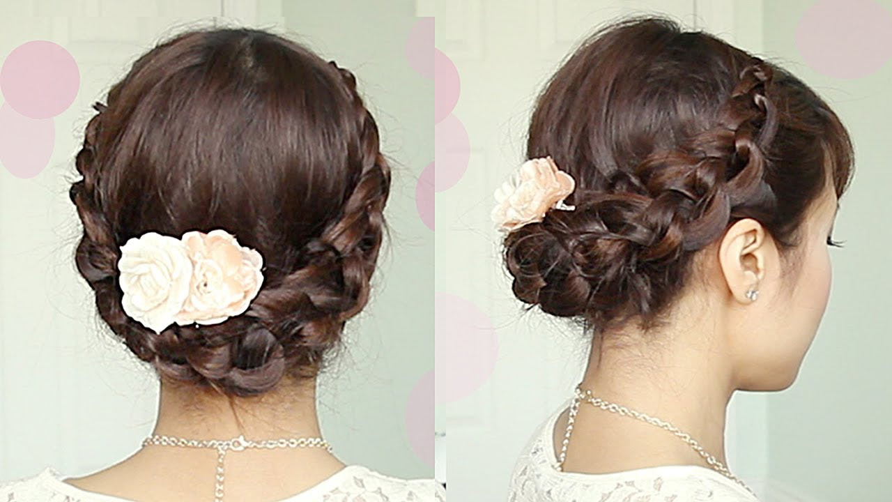 Crochet Stitch Updo  Hairstyle  for Medium Long  Hair
