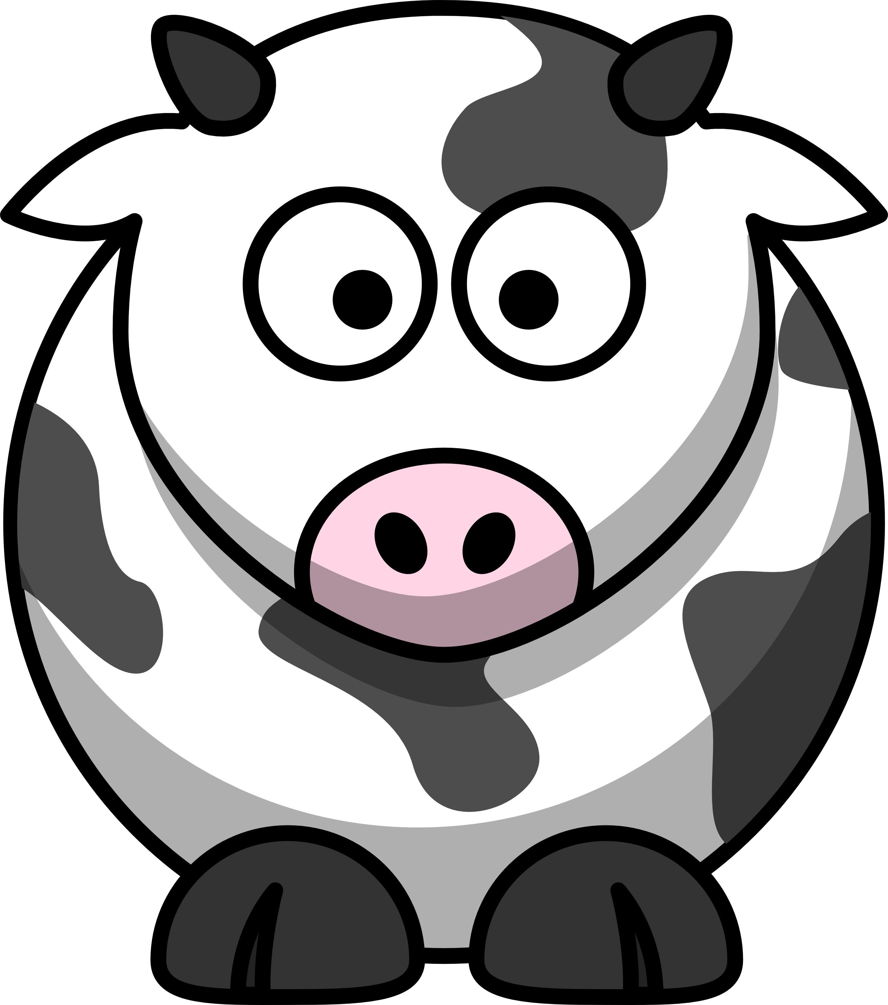 Free Cartoon Cow Clip Art   Free Images at Clker.com ...