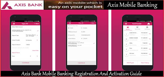 Axis Bank Mobile Banking Registration And Activation Process In Hindi