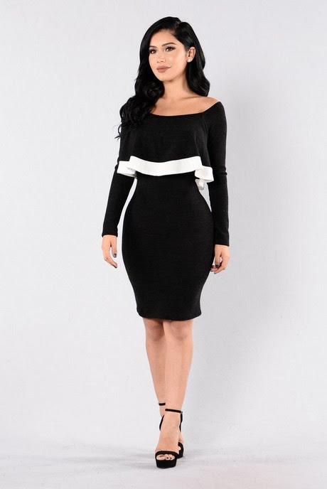 Black and white off the shoulder dress japan unbranded