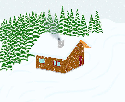Mountain Cottage In A Snowfall Landscape by Ciprian Dragusanu