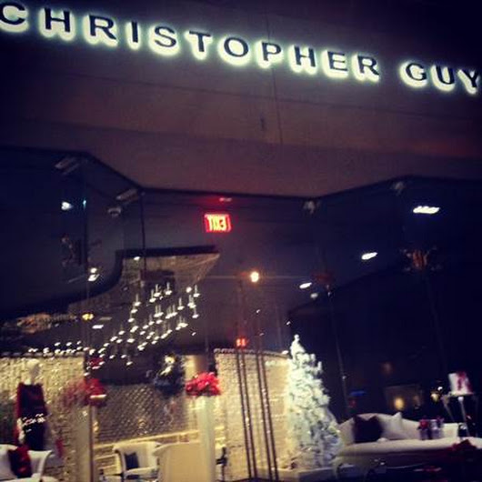 Holiday Window Display at Christopher Guy
