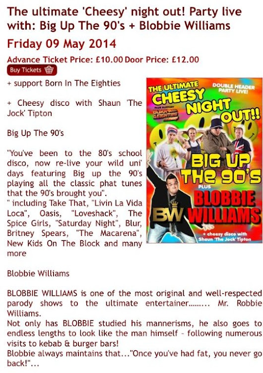 Party Live with Big Up The 90s & Blobbie Williams | Big Up The 90s
