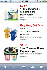 target baby mobile coupons Target Mobile Coupons for Baby Program!