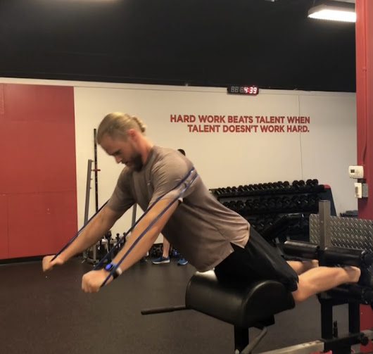 Exercise of the Week: Glute-Ham Raise with Banded Reach
